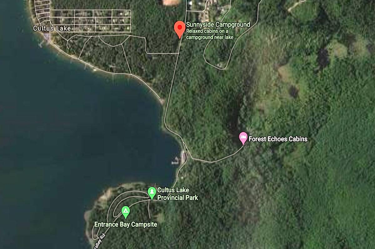 New section of Lakeside Trail coming from Sunnyside Campground to Entrance Bay. (Google maps)