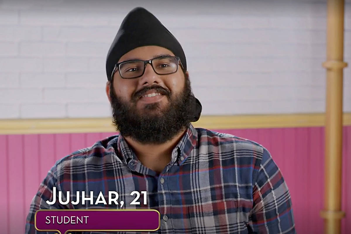 "Surrey resident Jujhar Mann in an episode of The Food Network's ""Great Chocolate Showdown"" TV series. (Photo: foodnetwork.ca)"