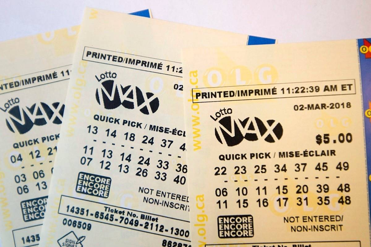 In this file photo, a lotto Max ticket is shown in Toronto on Monday Feb. 26, 2018. (By THE CANADIAN PRESS)