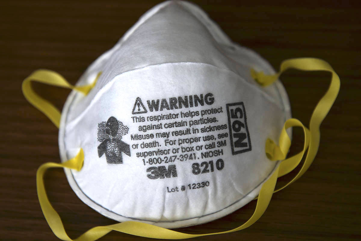 A real 3M respirator – the mask in which many Canadian health care workers are using to protect themselves and others from COVID-19 spread in health care settings. THE CANADIAN PRESS/Nathan Denette