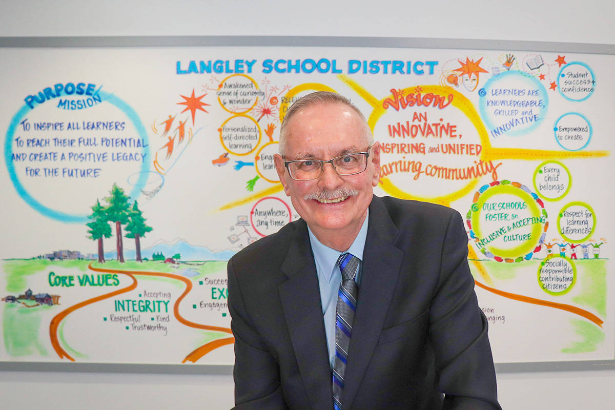 Charlie Fox was sworn in as the newest Langley school trustee on Thursday, March 12 after his byelection win last month. Some votes were by mail, something a new Township staff report says should be eliminated (Langley School District/Special to the Langley Advance Times)