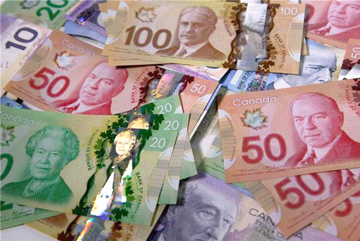 Canadian currency. (File photo)