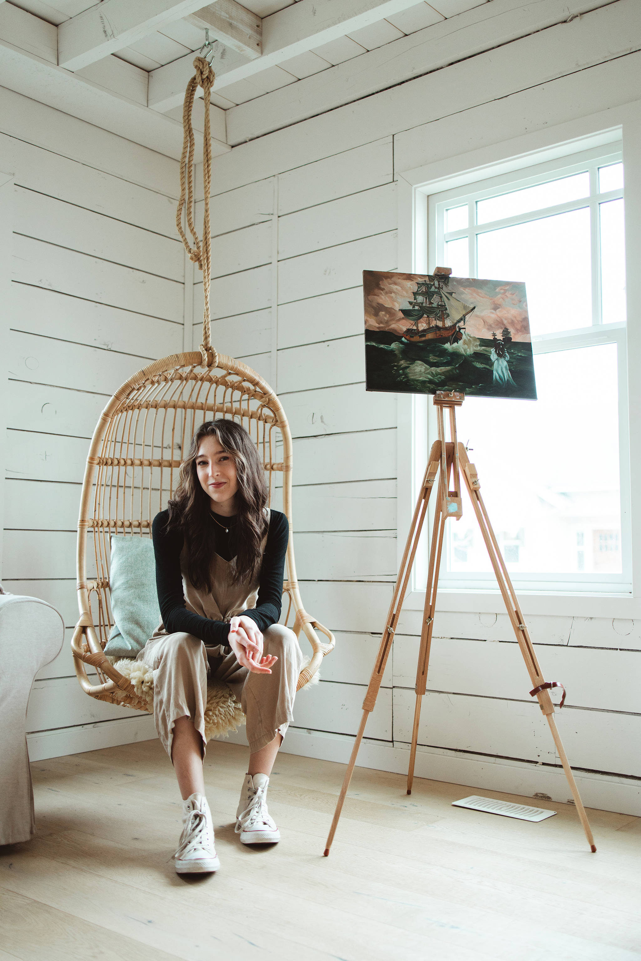 MEI grad Julia Martens is a skilled local artist who uses her synesthesia to create art. (Mitchell Cook photo)