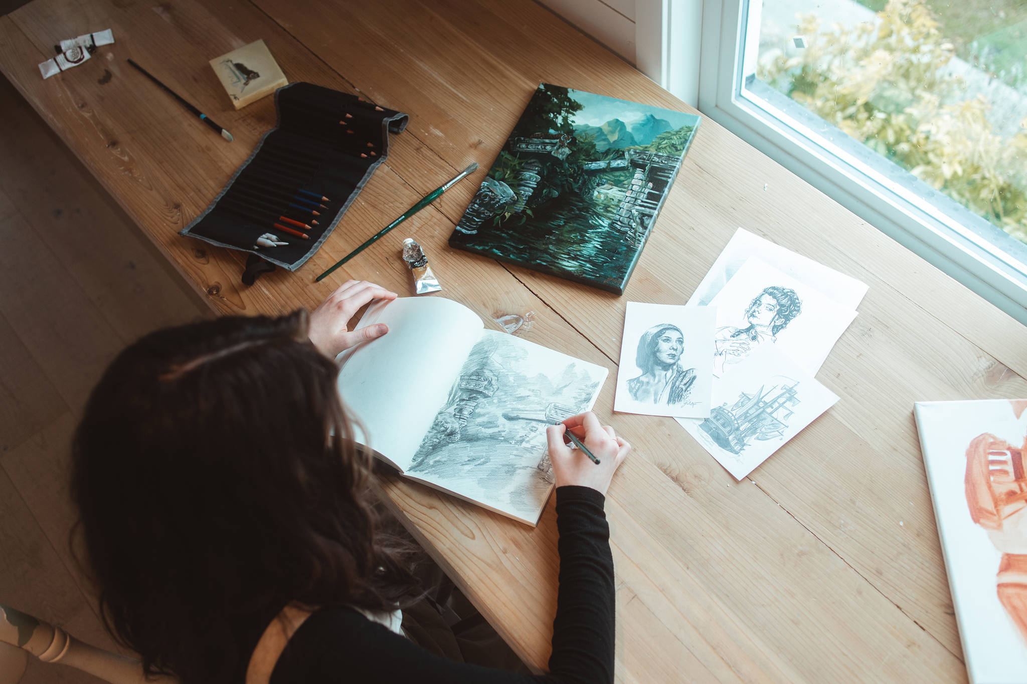 Inside the studio of Abbotsford artist Julia Martens, who creates art in many different mediums.