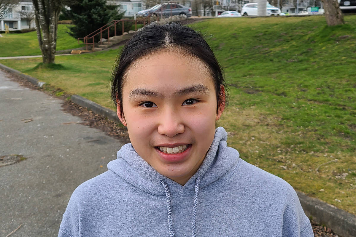 LOSC swimmer Kay Suen, 14, took a gold at the province-wide virtual divisional competition. (Special to Langley Advance Times)