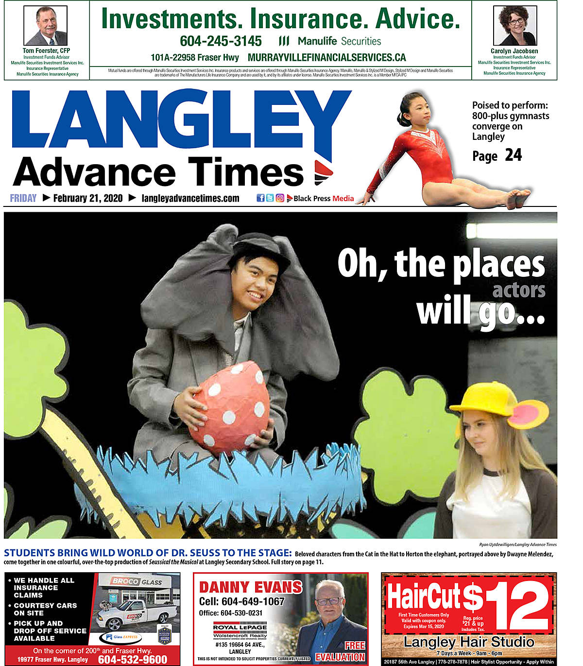 """Members of the Langley Advance Times team is also up for a few other industry awards, including """"general excellence."""""""