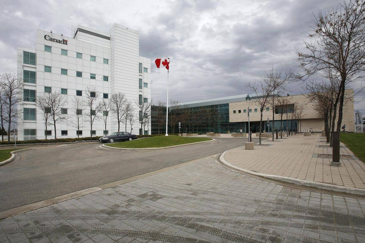 The National Microbiology Laboratory is shown in Winnipeg, May 19, 2009. The president of the Public Health Agency of Canada has been given until the end of the week to explain why two Canadian government scientists were let go 18 months after being escorted from Canada's only Level 4 laboratory. THE CANADIAN PRESS/John Woods