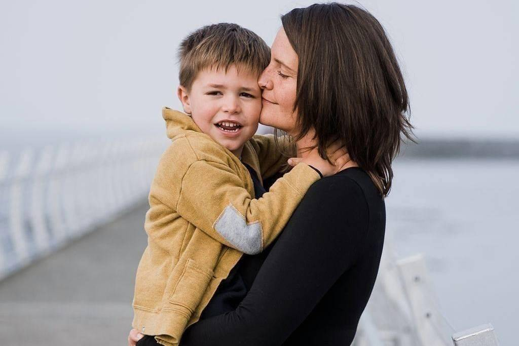 Victoria-Beacon Hill MLA Grace Lore holds her son Asher, who was diagnosed with a brain tumour, in this recent handout image provided by Lore. (Contributed to The Canadian Press)