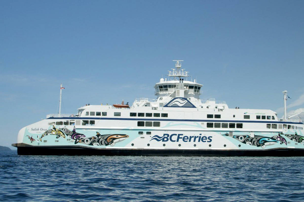 Salish Orca with artwork designed by Darlene Gait from Esquimalt Nation. (Courtesy of BC Ferries)