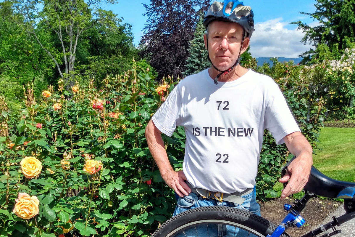 White Rock's Dal Fleischer has been riding a unicycle for 17 years. (Contributed photo)