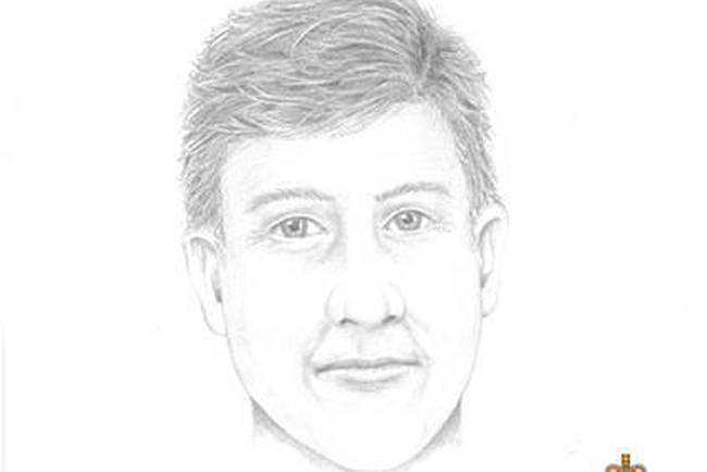 Michael Dunahee was four-years-old when he disappeared from the Blanshard School Playground. (Sketch courtesy of VicPD)