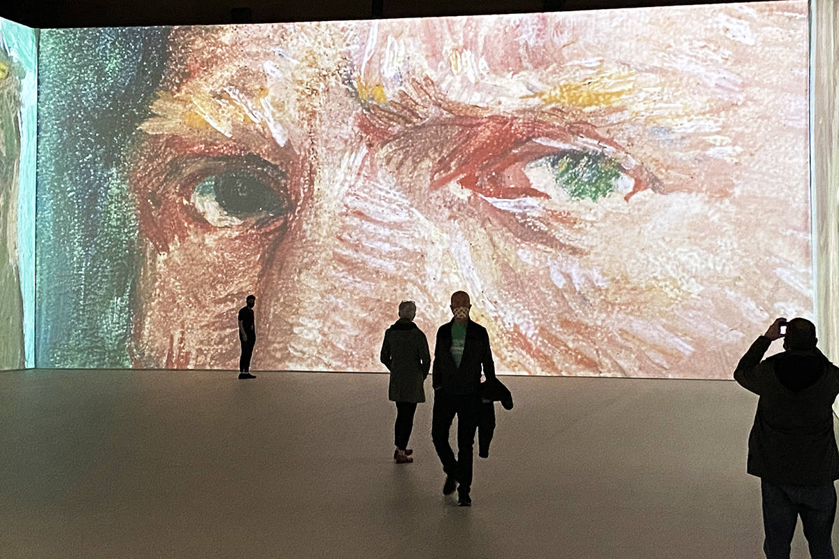 """A view of the """"Imagine Van Gogh"""" art exhibit at the Vancouver Convention Centre. (Photo: Tom Zillich)"""