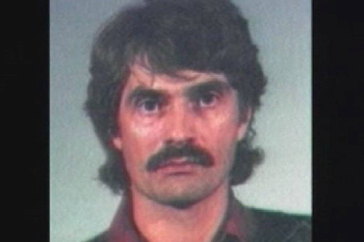 """John Horace Oughton, known as the """"paper bag rapist,"""" (pictured in a 1987 photo) was denied parole at an online hearing this week."""