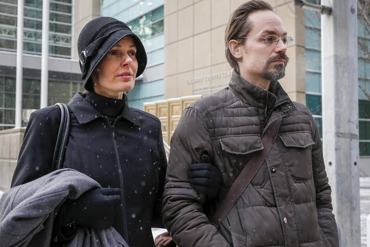 FILE – Jennifer and Jeromie Clark leave a sentencing hearing after the couple were found guilty of criminal negligence causing the death of their 14-month-old son in 2013, outside the courts centre in Calgary, Friday, Feb. 8, 2019. THE CANADIAN PRESS/Jeff McIntosh