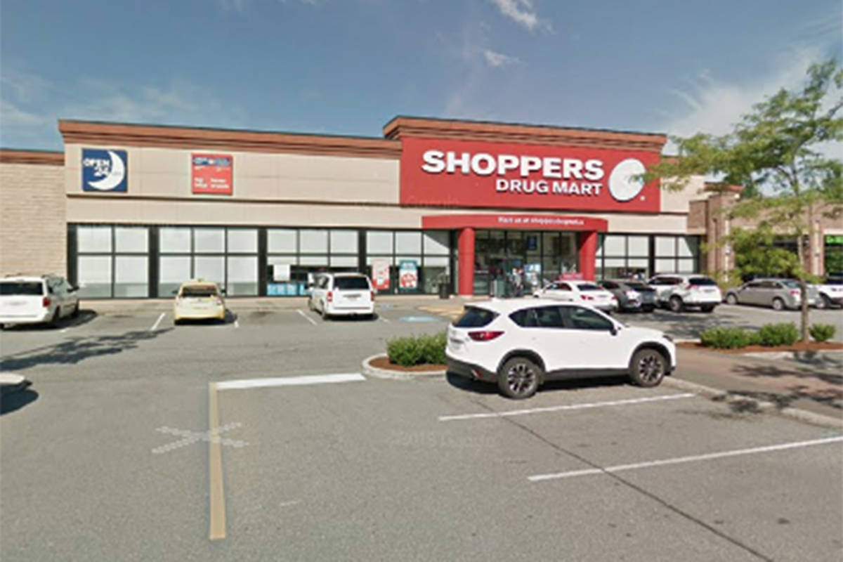 This Shoppers Drug Mart in Walnut Grove seen here in an undated Google photo has had an employee test positive for COVID-19, parent company Loblaws announced Friday, March 26. The business located at 20159 88th Ave. has not been listed by Fraser Health as a site of public exposure. (Google photo)