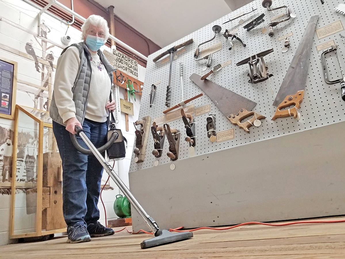 Volunteers were busy on Saturday, March 27, preparing the B.C. Farm Museum in Fort Langley for its planned reopening on April 1, 2021 (Dan Ferguson/Langley Advance Times)