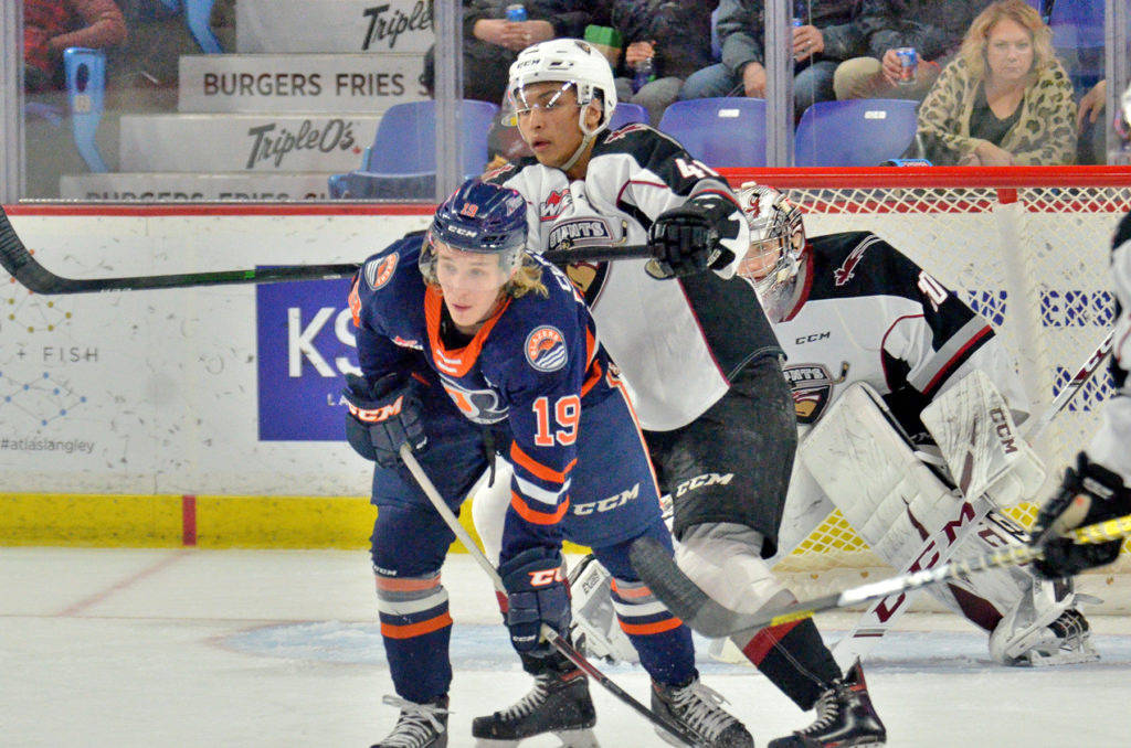 The Vancouver Giants take on the number 1 team in the league when they play the Kamloops Blazers Friday, March 26, 2021. The public can watch online. (Gary Ahuja/Langley Events Centre)