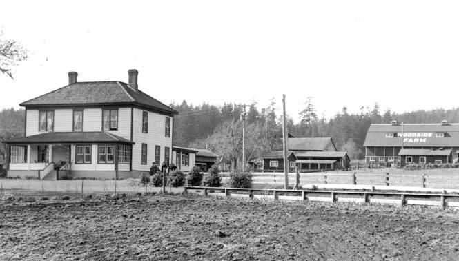Woodside Farm is shown in 1940. (Contributed - Sooke Region Museum)
