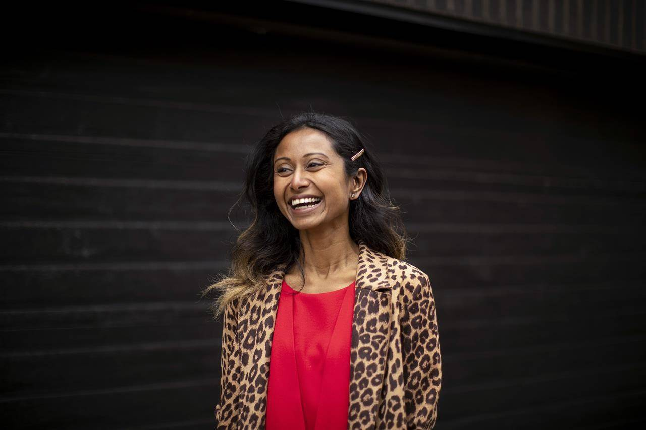 Lawyer Janani Shanmuganathan is pictured in Toronto on Friday, March 26, 2021.THE CANADIAN PRESS/Chris Young