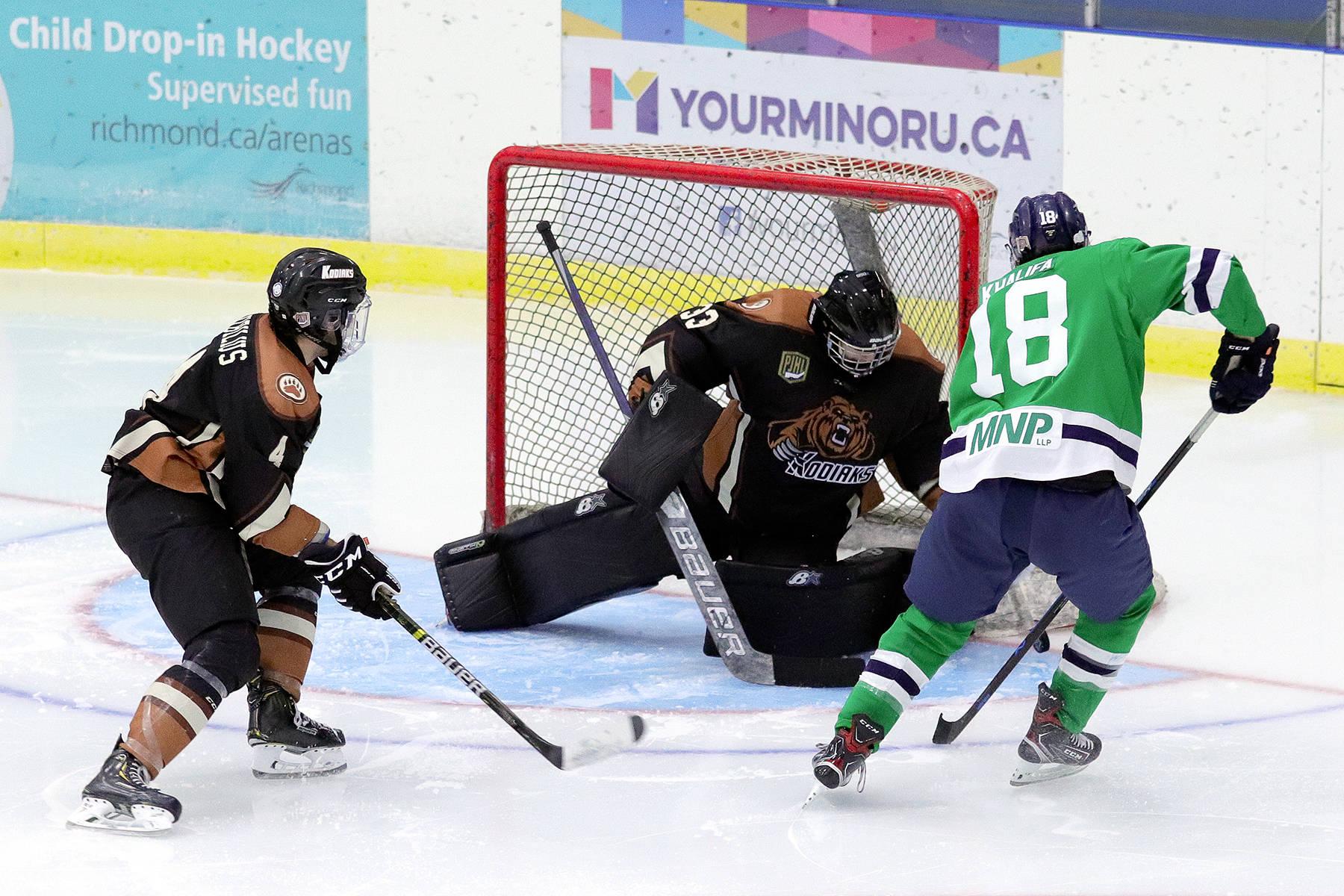 The Pacific Junior Hockey League has decided to cancel the rest of the 2020-'21 season, a move the Aldergrove Kodiaks coach called 'unfortunate' (Jody Harris file photo)
