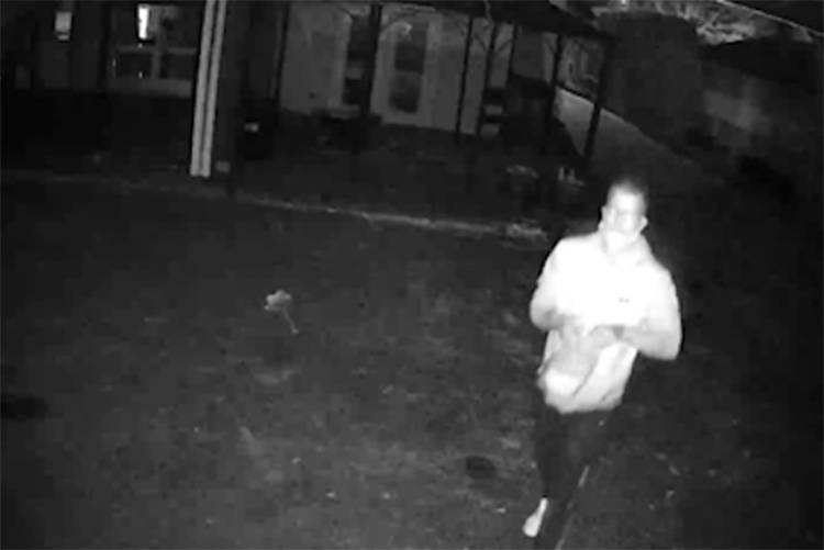 This man is a suspect in a home break-in early Tuesday morning (March 30) in Abbotsford that included the theft of five kittens.