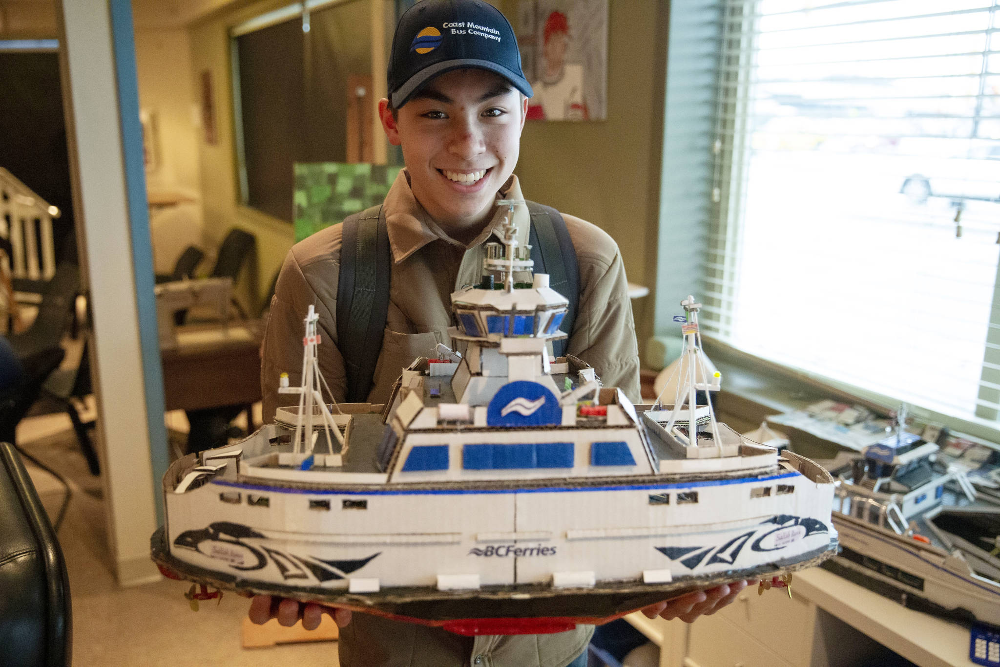 Josh Yeung has created a variety of BC Ferries models for the various ships in the fleet, with the goal ultimately to work for the corporation. Photo submitted