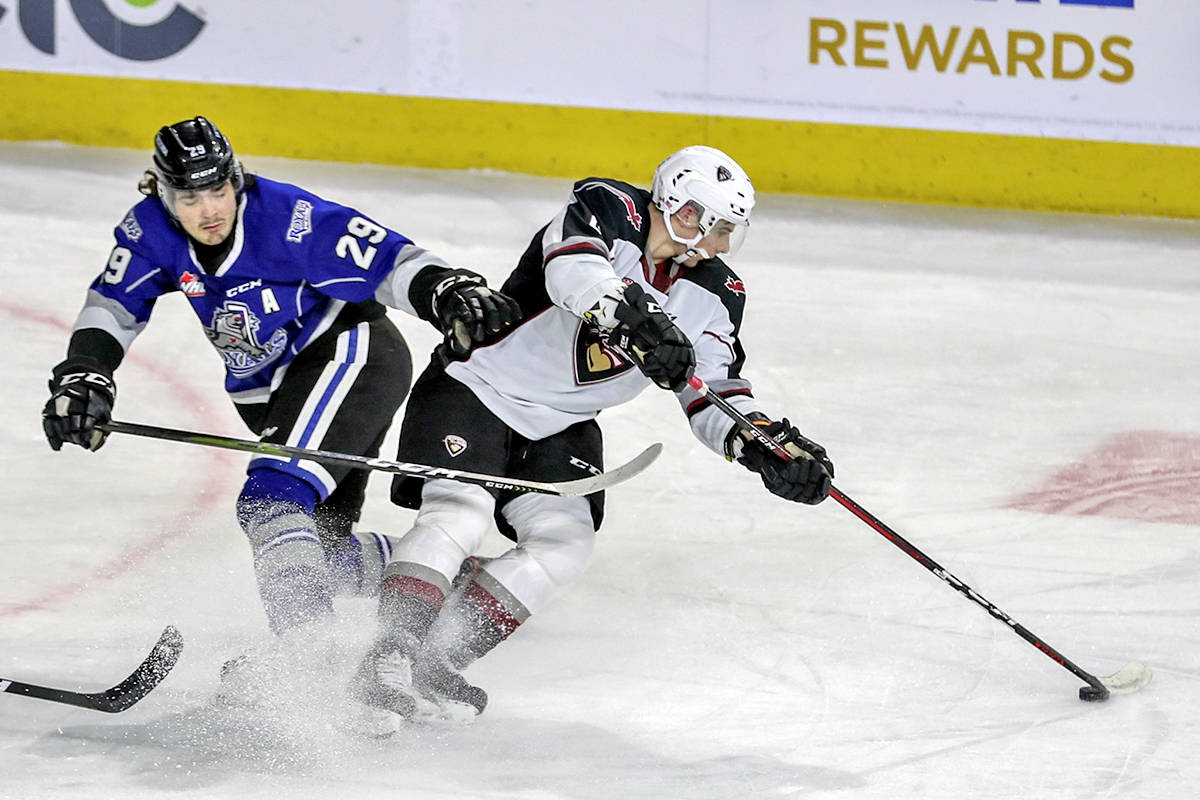 A come-from-behind 5-4 victory over the Victoria Royals gave the Vancouver Giants their second win in a row Tuesday night, March 30, 2021, in Kamloops (Allen Douglas/Special to Langley Advance Times)