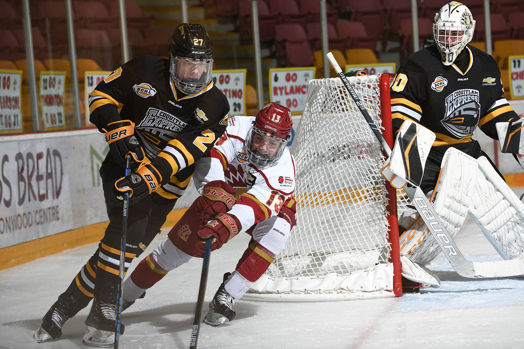 The Chilliwack Chiefs and Coquitlam Express will finally play games in early April as the BCHL squeezes in a shortened 20 game season. Just-announced provincial funding may help the junior A league offset financial losses caused by the COVID pandemic. (Darren Francis photo)