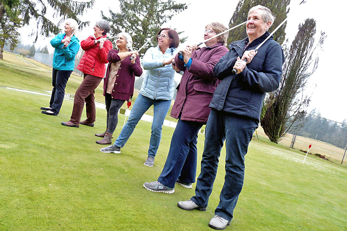 For at least 30 years. the Langley Senior Ladies Golf group has been teeing off every Tuesday morning at the Langley Golf and Banquet Centre course on 216 Street near 44 Avenue. Dan Ferguson Langley Advance Times
