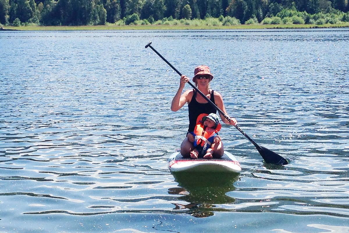 Paddling on Sugar Lake