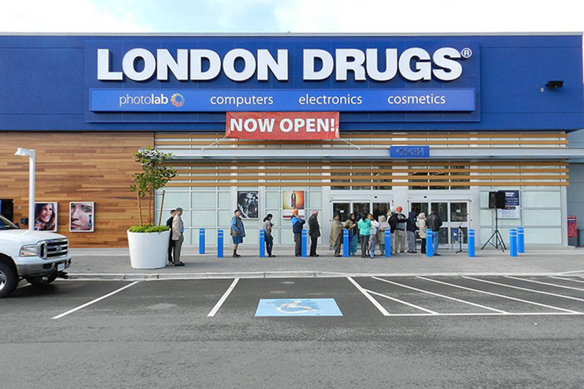 London Drugs is one of the pharmacy chains participating in the AstraZeneca vaccine rollout for people 55 to 65 years old in the Lower Mainland. (Black Press Media files)