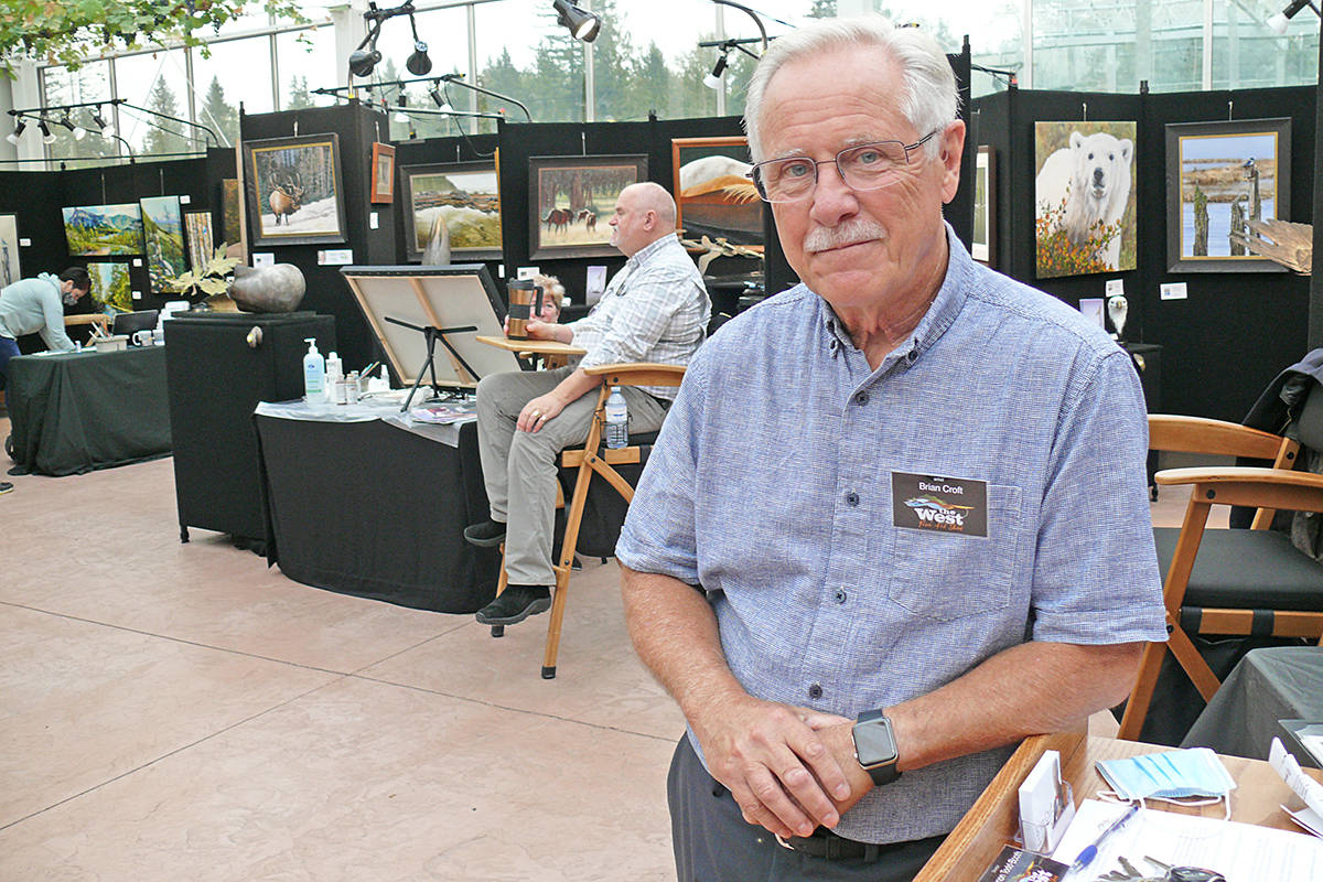 Organizer Brian Croft attends an earlier edition of the West Fine Art Show in pre-COVID times. (File photo)