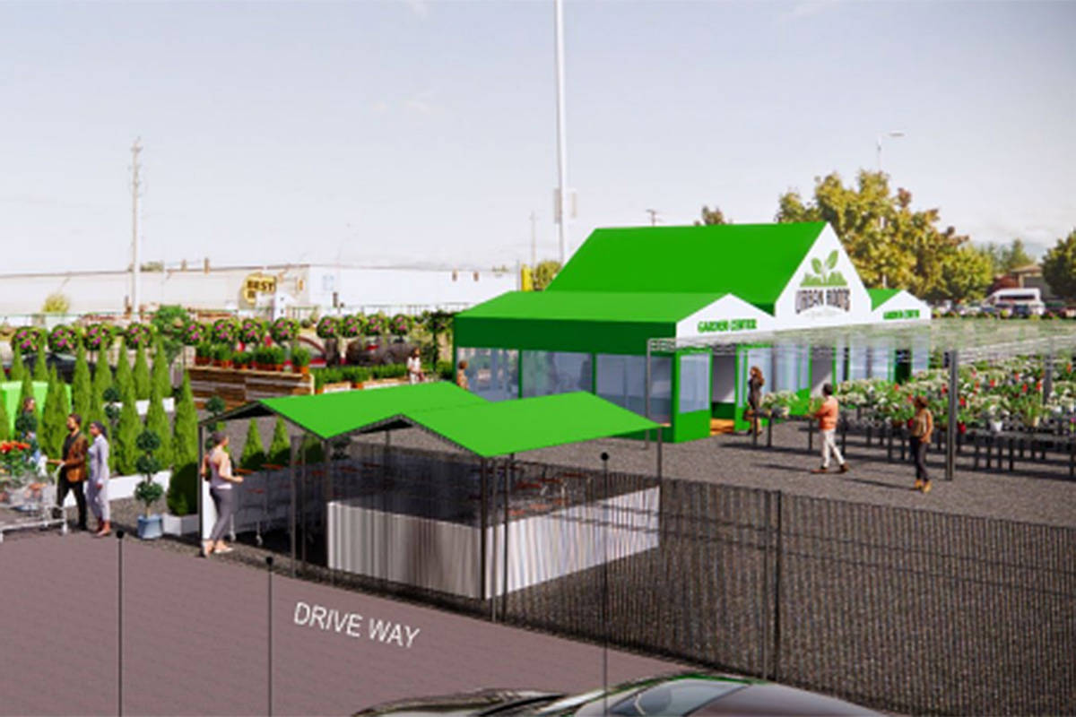An artist's rendering of the proposed garden centre in Walnut Grove. (Township of Langley/Special to the Langley Advance Times)