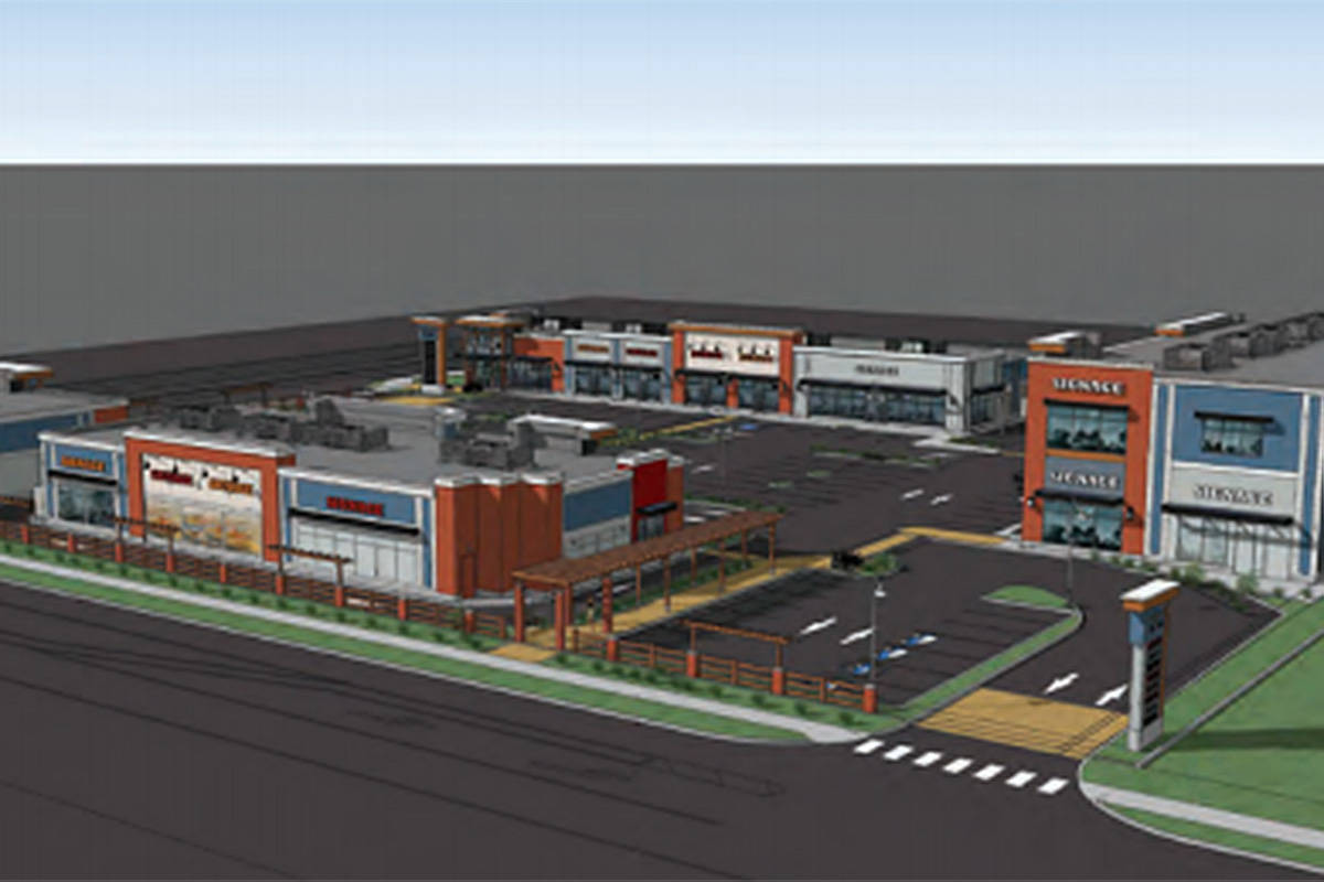 A rendering of a shopping plaza approved by Township council in March for 80th Avenue in Willoughby. (Township of Langley/Special to the Langley Advance Times)
