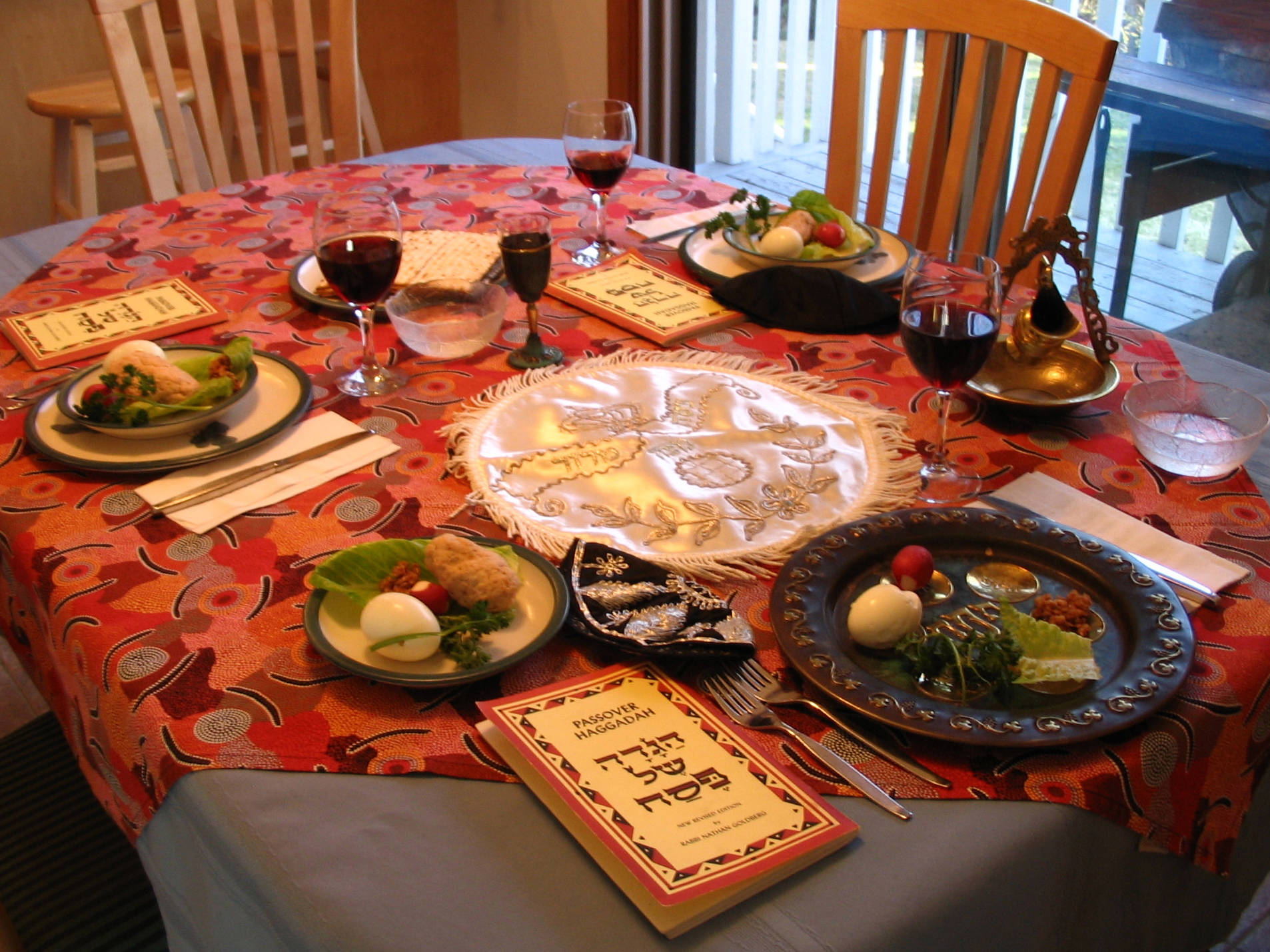 The Jewish observance of Passover is often held around the same time as Easter. What is the name of the Passover feast? (Wikimedia commons)