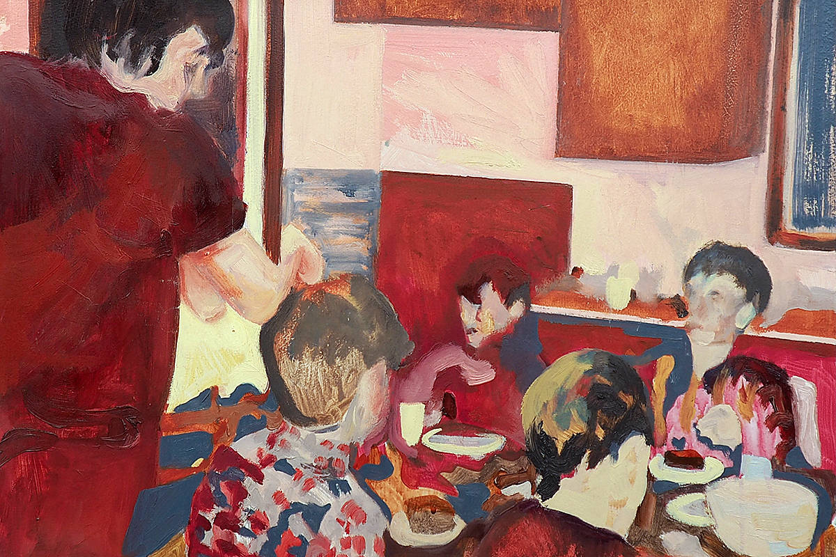 """Laura Rosengren is one of three artists preparing a motherhood-based exhibition at the Fort Gallery later this month. This painting is entitled """"Director."""" (Special to Langley Advance Times)"""