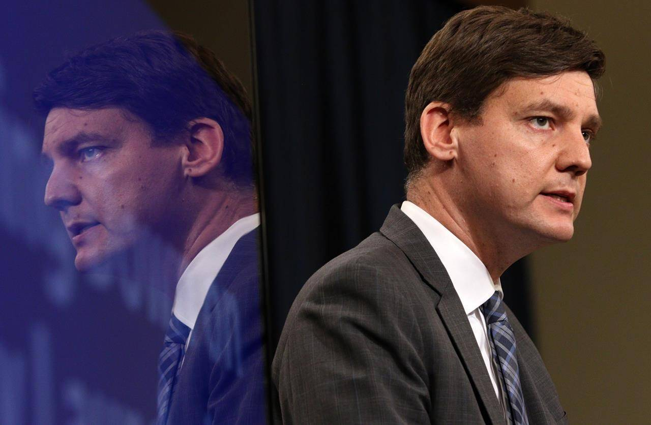 B.C. Attorney General David Eby talks during a press conference at Legislature in Victoria, B.C., on Thursday, May 9, 2019. THE CANADIAN PRESS/Chad Hipolito