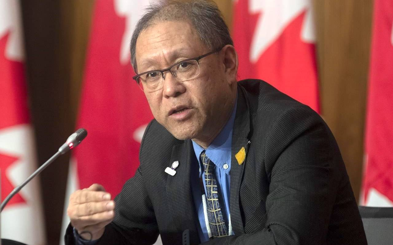Indigenous Services Canada Chief Medical Officer of Public Health Dr. Tom Wong responds to a question during a news conference in Ottawa, Wednesday January 20, 2021. THE CANADIAN PRESS/Adrian Wyld