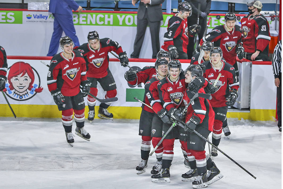 Vancouver Giants fought Prince George Cougars to a standstill in Kamloops on Sunday, April 4, winning 1-0 in the third round of a shootout (Allen Douglas/Special to Langley Advance Times)