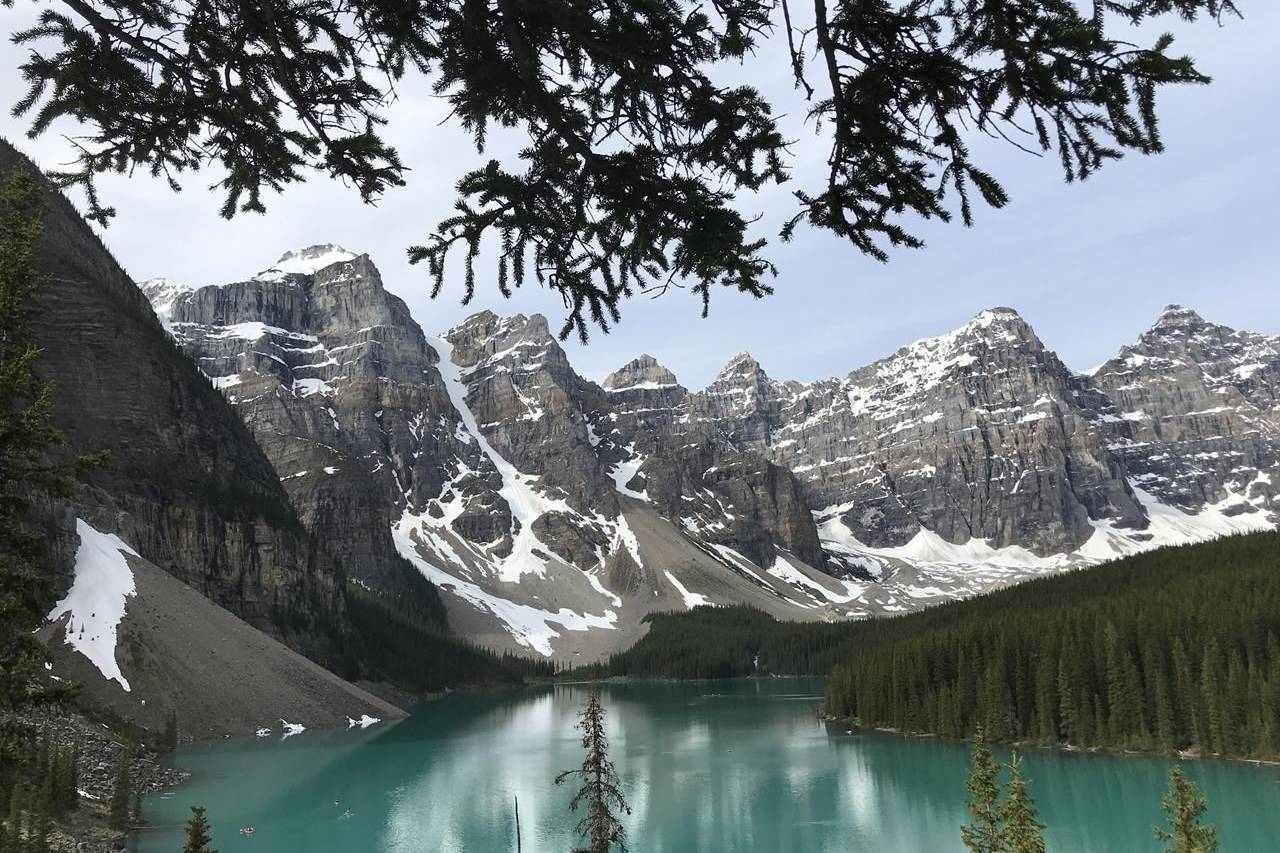 The green waters of Moraine Lake are pictured in Lake Louise, Alberta, June, 2020. THE CANADIAN PRESS/Jonathan Hayward