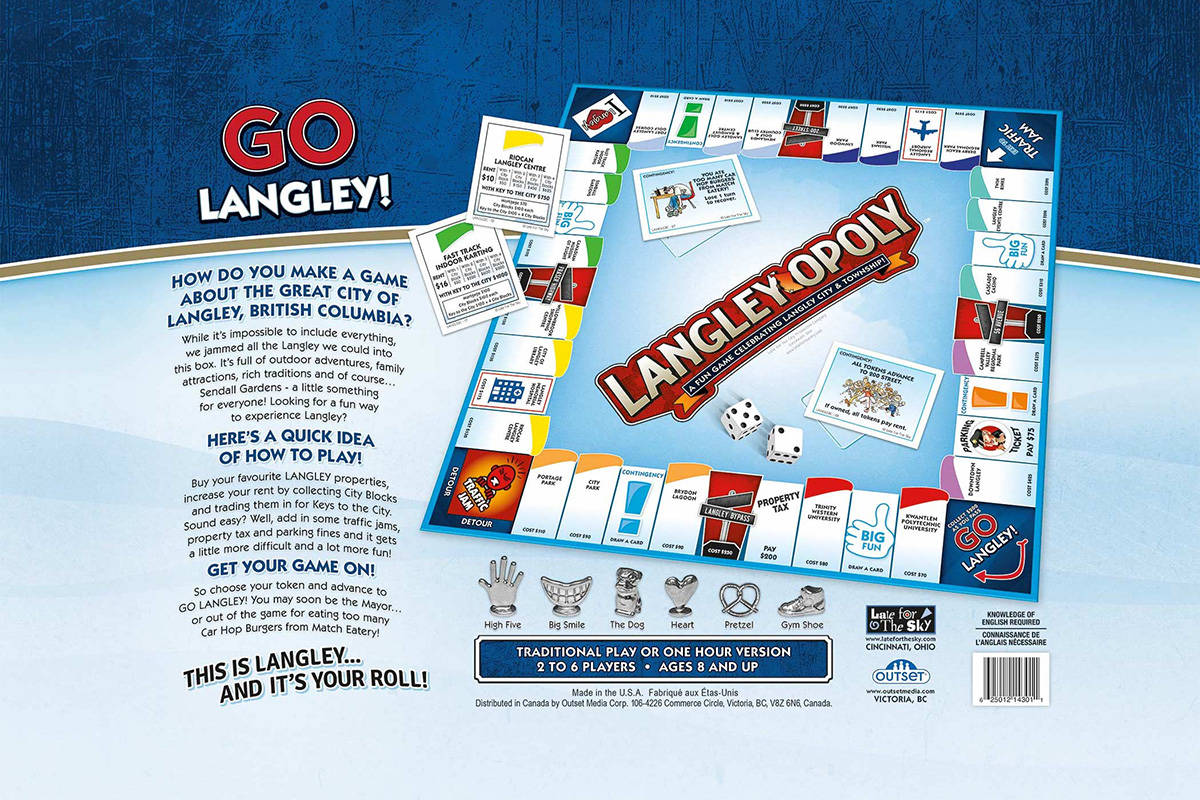 The LangleyOpoly game is available via local WalMarts. (Outset Media/Special to the Langley Advance Times)