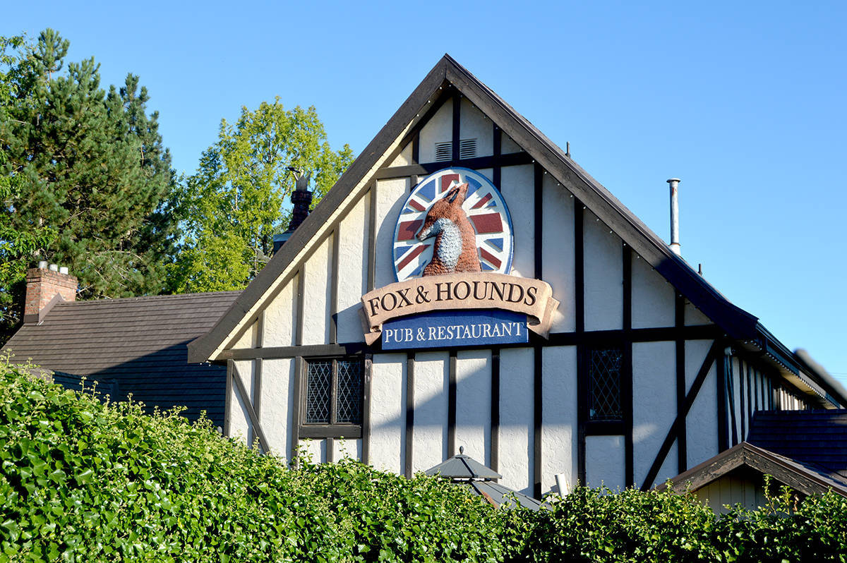 Fox and Hounds Pub and Restaurant in Aldergrove is closed to indoor dining. (Aldergrove Star files)
