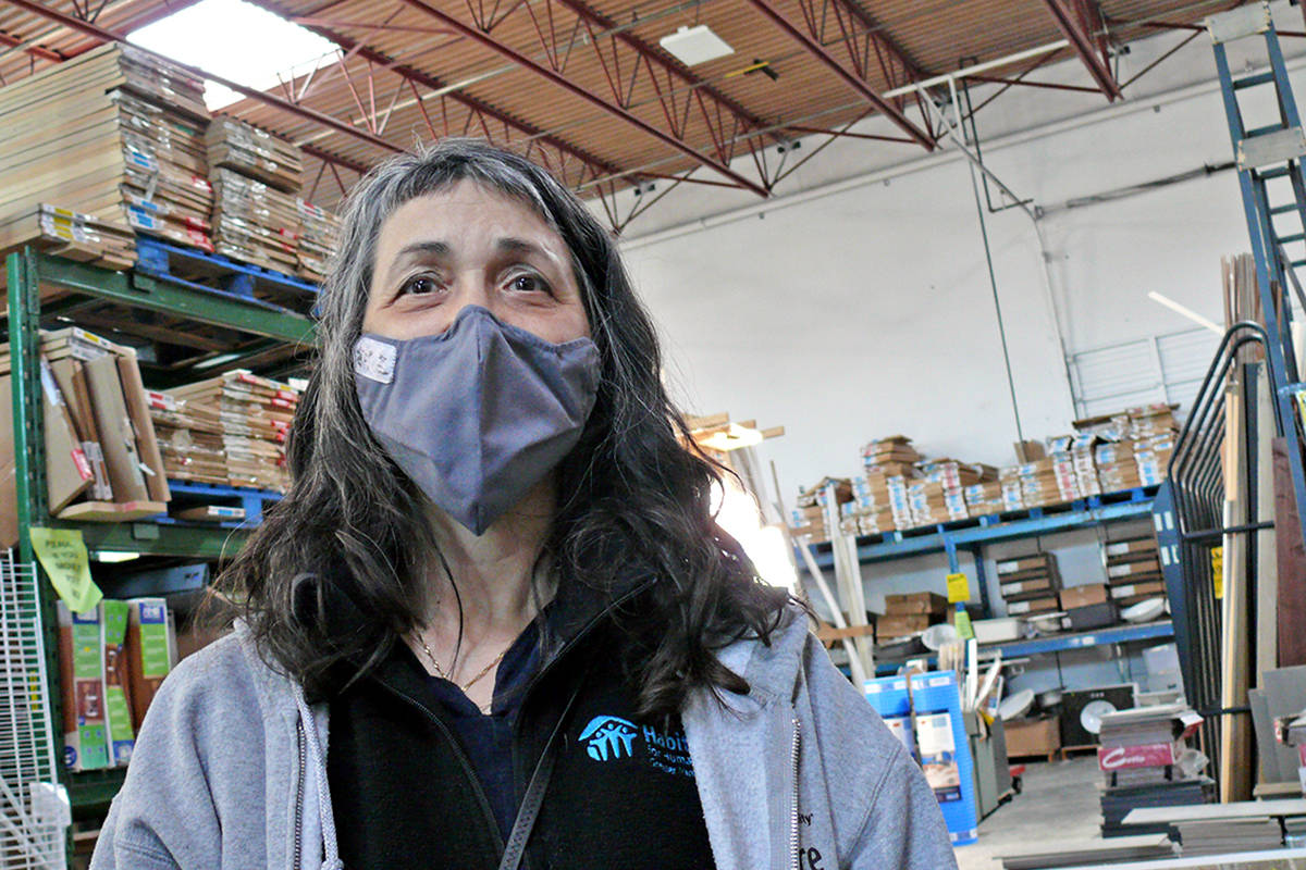 Nadia Brigden, manager of the Langley Habitat for Humanity Restore said the theft of $30,000 worth of merchandise 'boggles' her mind. It was discovered Monday, April 5 when staff arrived in the morning (Dan Ferguson/Langley Advance Times)