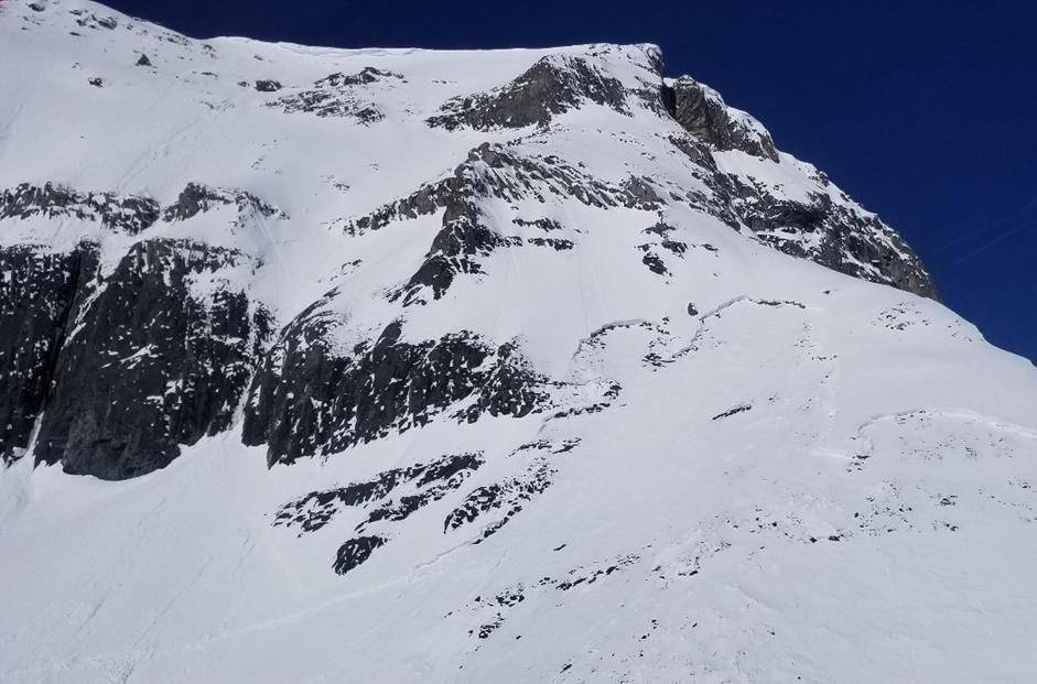 Haddo Peak in Banff National Park is seen in an undated handout photo. A skier from Alberta has died in an avalanche while he and another skier were on a mountain in Banff National Park. THE CANADIAN PRESS/HO-Parks Canada, *MANDATORY CREDIT*