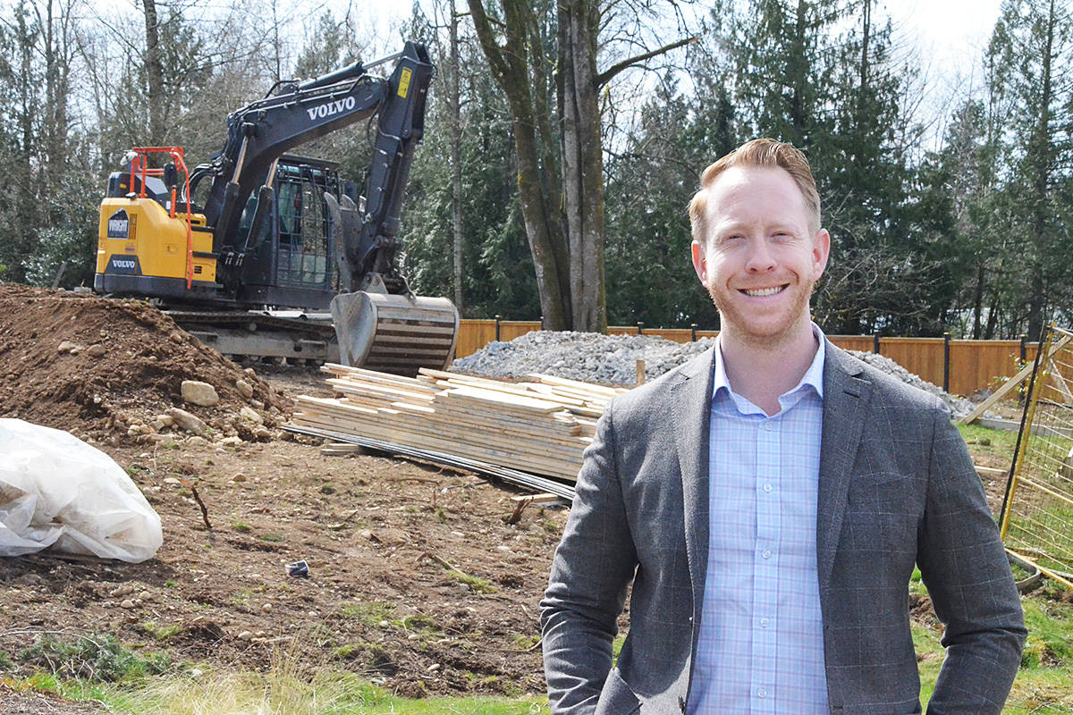 Scott Strudwick is involved in selling mini-strata properties – two houses sharing the same lot in Langley. (Matthew Claxton/Langley Advance Times)