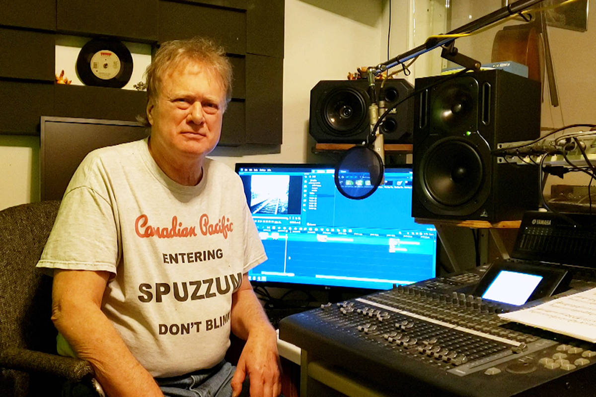 Frank Ludwig in the control room. (Photo submitted)