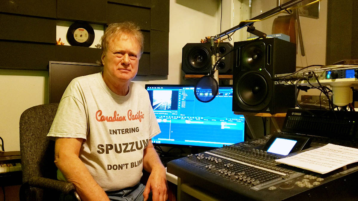 Frank Ludwig in the control room of his home studio. (Photo submitted)