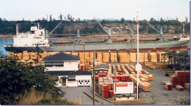 The entrance to the previous Chemainus sawmill during its prime operating years. (Photo submitted)