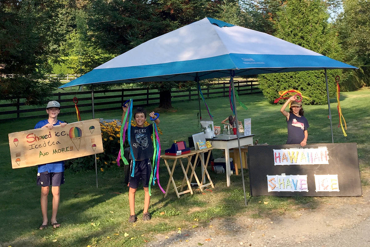 The Springman siblings sell treats at a stand in rural Aldergrove. (Special to The Star)