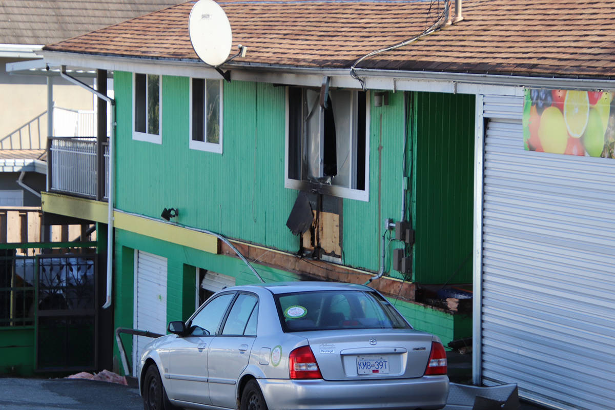 A body was found after a fire in a basement suite in Surrey at 96 Avenue and 117B Street on Monday, April 5. (Photo: Shane MacKichan)
